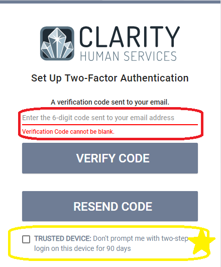 Clarity Log In Reminders and Additional Dates for New User Training